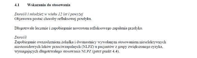 Wskazania z ChPL